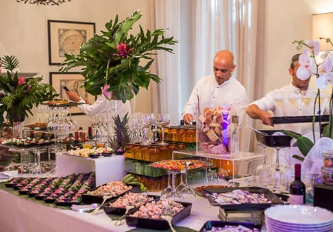 Weddings Villa Mussio - finger food