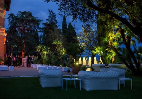 Wedding at Villa Mussio - evening reception