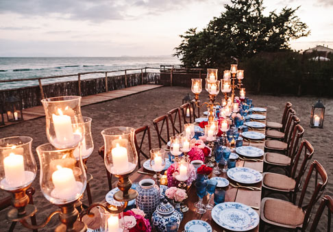 Wedding at Villa Mussio - private beach